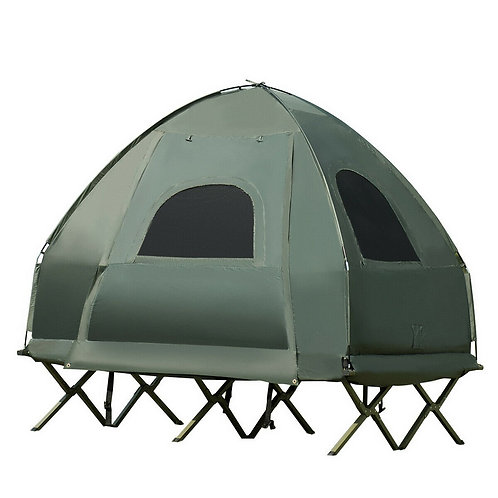 2-Person Compact Portable Pop-Up Tent Air Mattress and Sleeping Bag