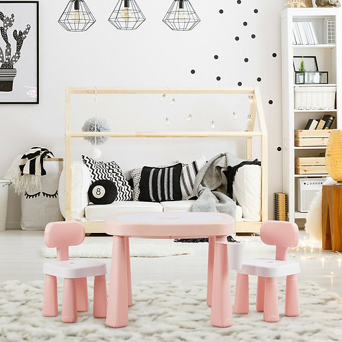 AR Function Kids Game Table and Chair Set-Pink