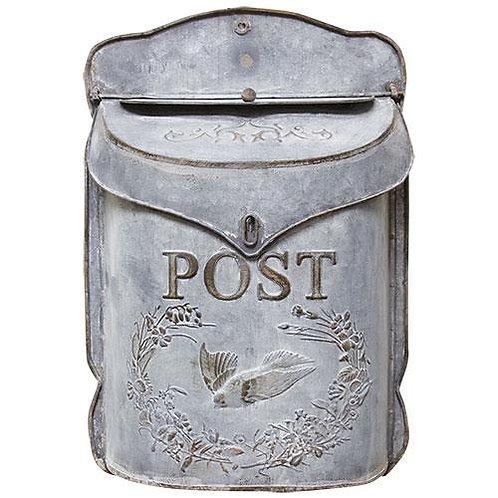 Galvanized Metal Post Box
