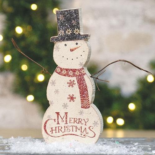 Merry Christmas Chunky Snowman Sitter
