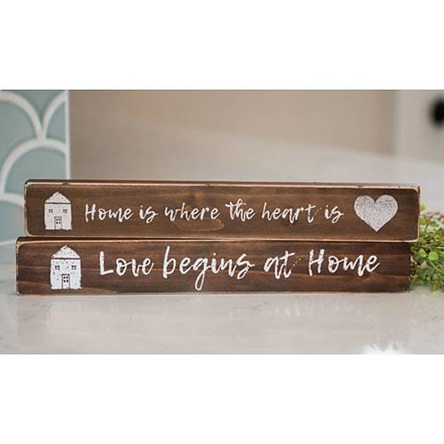 Pack of 4 *Home Is Where The Heart Is Block 2 asst.