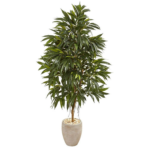 """74""""  Royal Ficus Artificial Tree in Sand Colored Planter"""