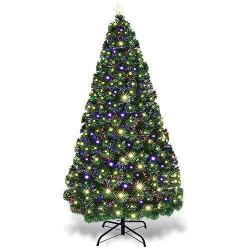 5'/6'7' LED Fiber Optic Artificial Christmas Tree w/ Top Star-7'