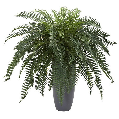 River Fern Artificial Plant in Cylinder Planter