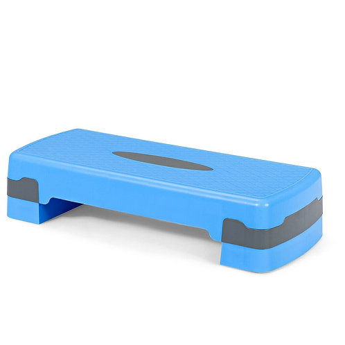 "26"" Aerobic Exercise Cardio Stepper with Riser-Blue"