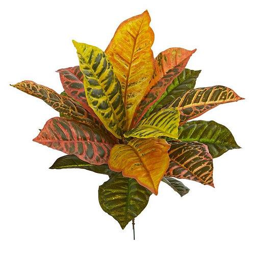 "17""  Garden Croton Artificial Plant (Real Touch) (Set of 6)"