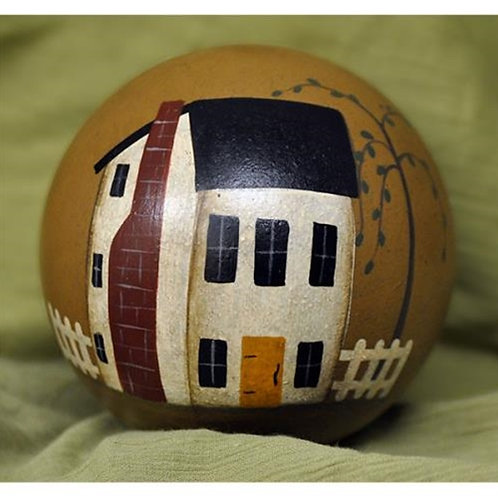 Pack of 2 *Home Hand Painted Decorative Ball