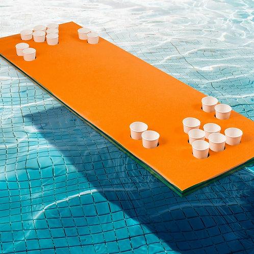 "5.5' x 23.5"" 3-Layer Multi-Purpose Floating Beer Pong Table-Orange"