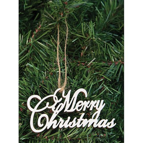 24/Box Merry Christmas Orns.