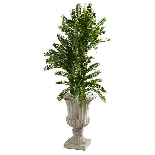 4.5' Triple Cycas Artificial Plant in Urn