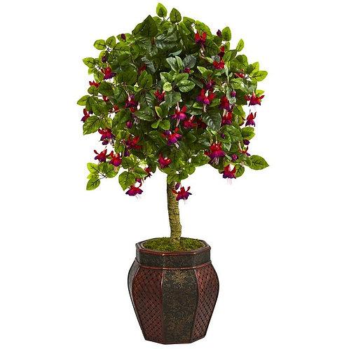 """44""""  Fuschia Artificial Tree in Decorative Planter"""