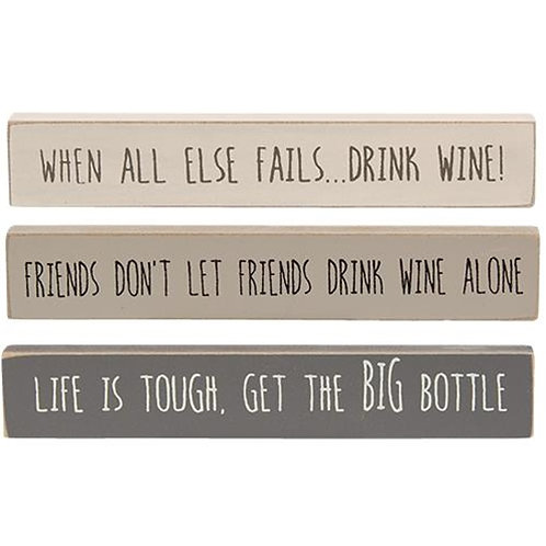Pack of 4 Farmhouse Colors Big Bottle Mini Stick 3 Asstd.