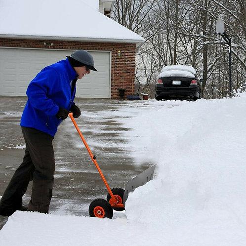 Adjustable Wheeled Snow Pusher/Shovel Heavy