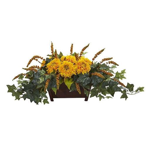 Sunflower Artificial Arrangement in Decorative Planter