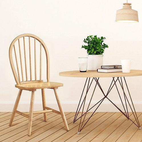Set of 2 Vintage Windsor Dining Side Wood Chairs