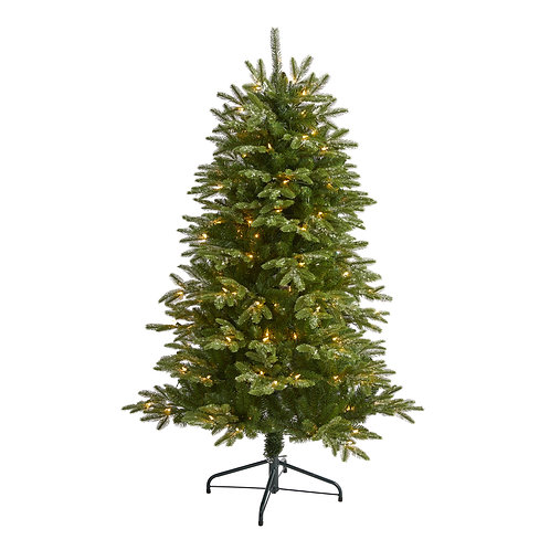 5' Snowed Grand Teton Artificial Christmas Tree with 150 Clear Lights