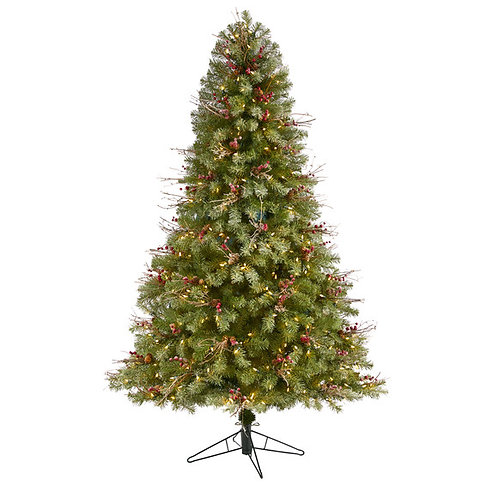 6.5' Lightly Frosted Big Sky Spruce Artificial Christmas Tree