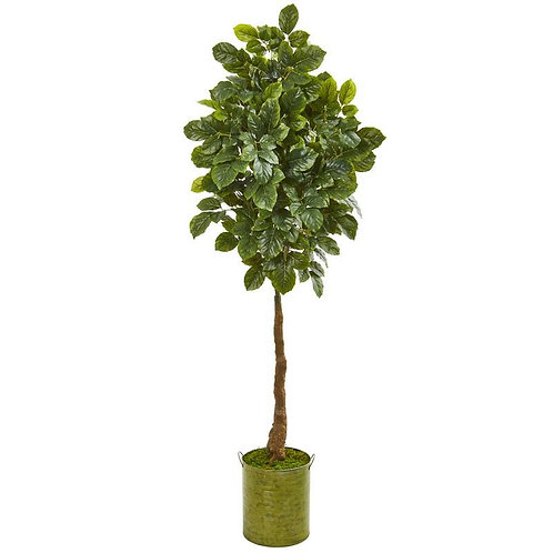 "69""  Beech Leaf Artificial Tree in Metal Planter"
