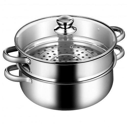 9.5 QT 2 Tier Stainless Steel Steamer Cookware Boiler