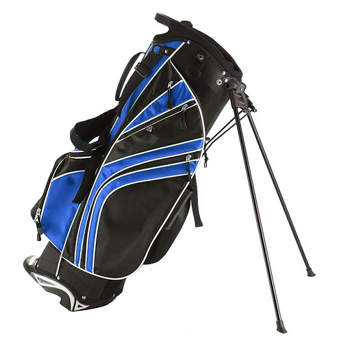 Golf Stand Cart Bag with 6-Way Divider Carry Pockets-Blue