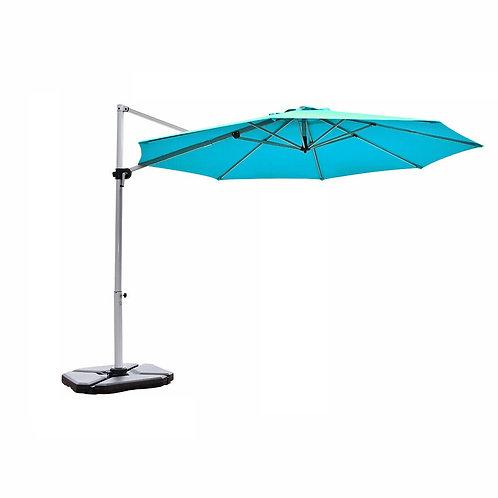 11' Patio Offset Cantilever Umbrella 360� Rotation Aluminum Tilt-Blue