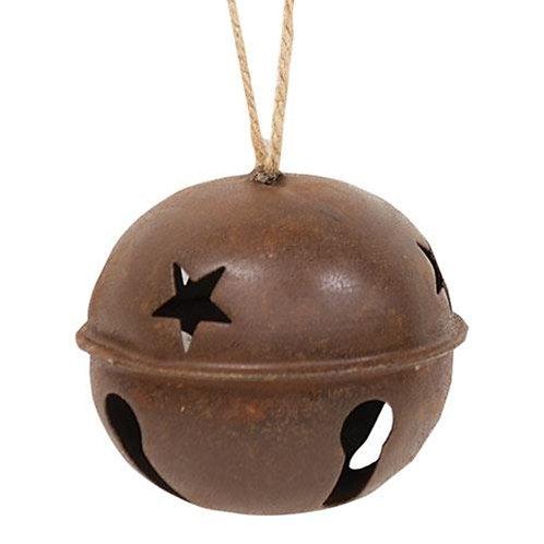 "Rusty X-Large Jingle Bell 4-1/2"""