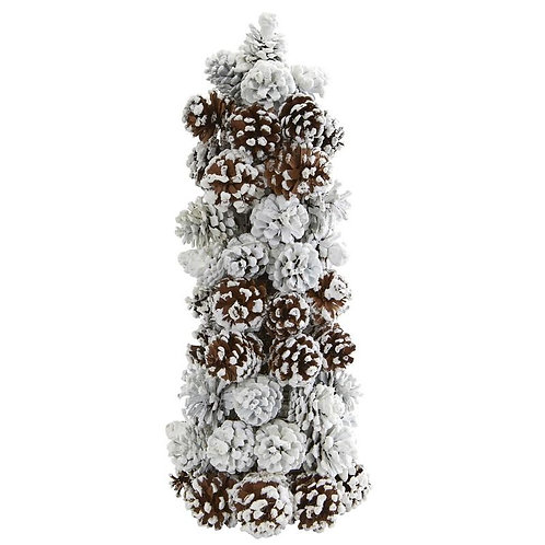 Frosted Pine Cone Tree