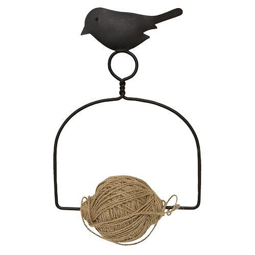 Pack of 2 *Jute Spool Hanger w/ Bird