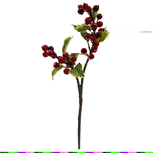 """16"""" Holly Berry Artificial Flower (Set of 6)"""