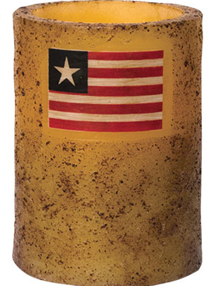 "4"" Burnt Ivory Flag Timer Pillar"