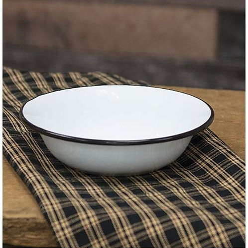 Pack of 4 Black Rim Enamel Soup Bowl