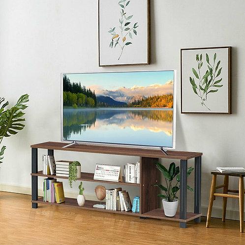 Retro TV Stand Entertainment Media Center Console Shelf Cabinet-Coffee