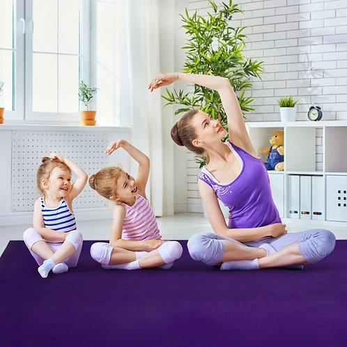 Large Yoga Mat 6' x 4' x 8 mm Thick Workout Mats-Purple