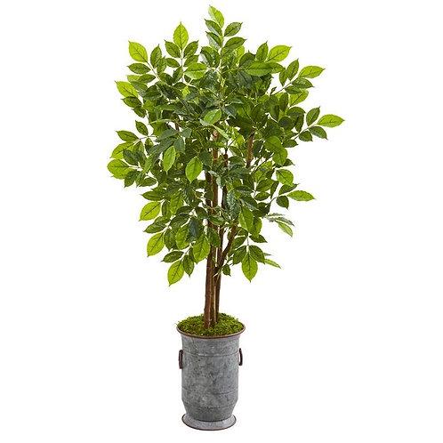 """55""""  River Birch Artificial Tree in Decorative Planter"""