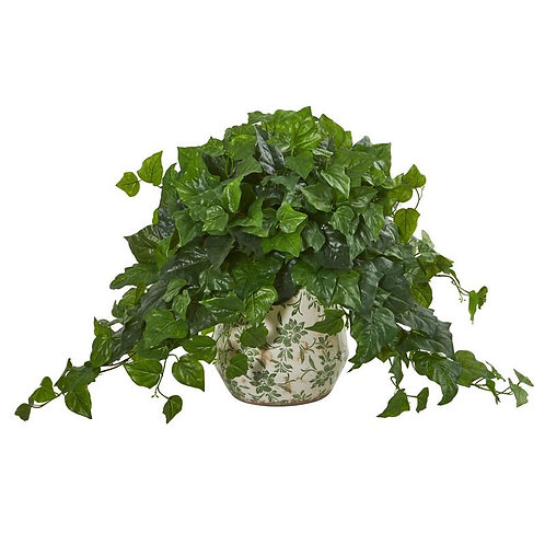 23' London Ivy Artificial Plant in Vase (Real Touch)