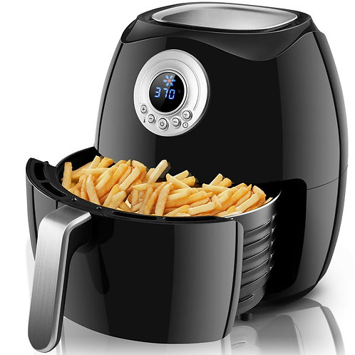 1500 W Hot Air Fryer Oilless with LCD Screen Timer & Temperature Control-Black