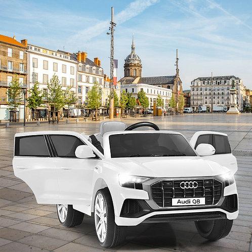 12V Licensed AudiQ8 Kids Ride On Car-White