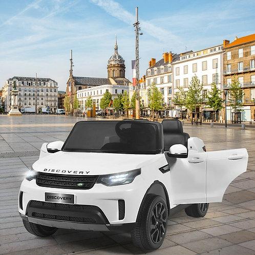 12V Licensed 2-Seater Land Rover Kid Ride On Car -White