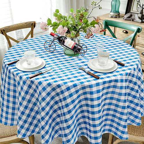 2 Pcs Stain Resistant and Wrinkle Resistant Table Cloth-Blue
