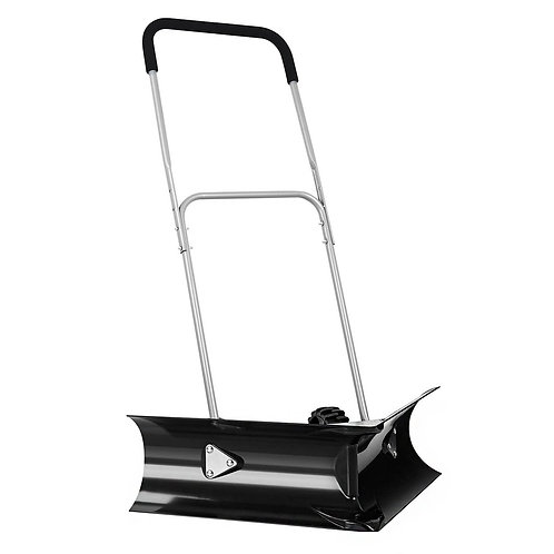 "Dual Rolling Snow Pusher w/ 6"" Wheels & Adjustable Handle"