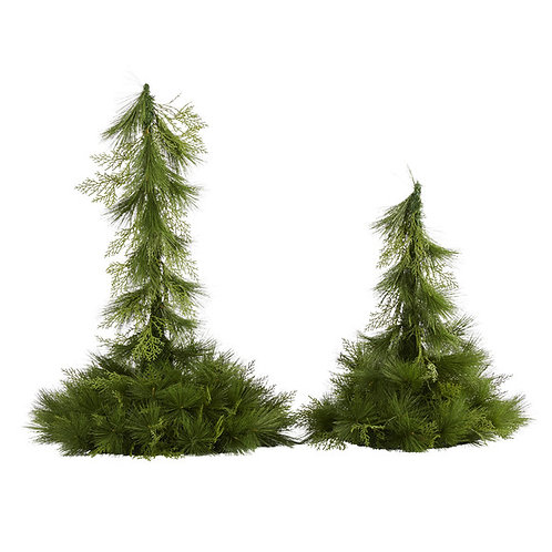 """24"""" and 36"""" Table Top/Hanging Artificial Christmas Decor (Set of 2)"""