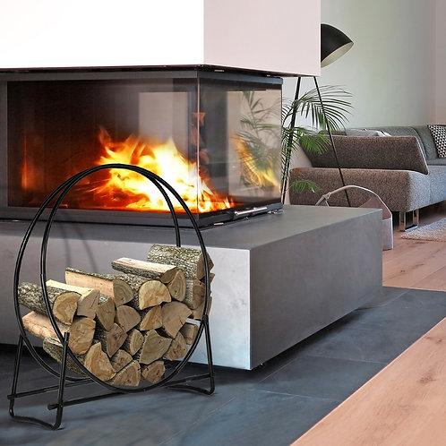 40-inch Tubular Steel Firewood Storage Rack