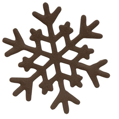 Pack of 4 *5/Pkg Rusty Look Snowflakes 1-1/2""