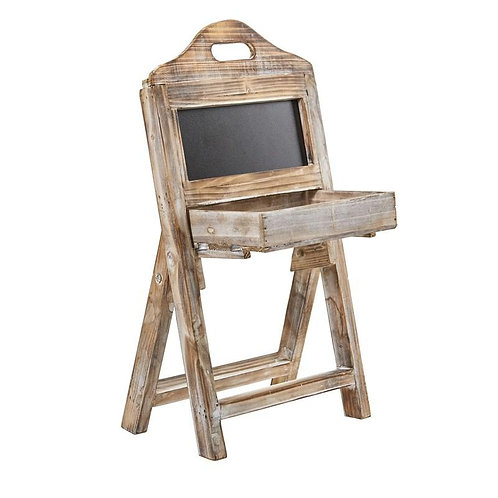 21'' Whitewash Wood Chalkboard Rack