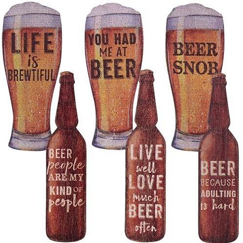 Pack of 4 6/Set Beer Magnets