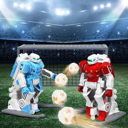 2 pcs Remote Control Rechargeable Battery Soccer Robots