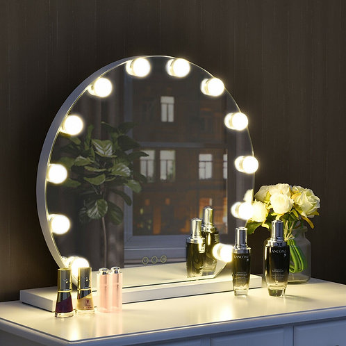 12 bulbs Modes Touch Screen Dimming Hollywood Style Makeup Vanity Mirror