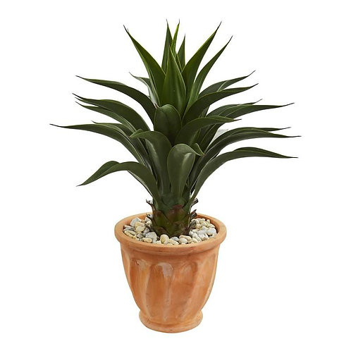 Agave Artificial Plant in Terra Cotta Planter