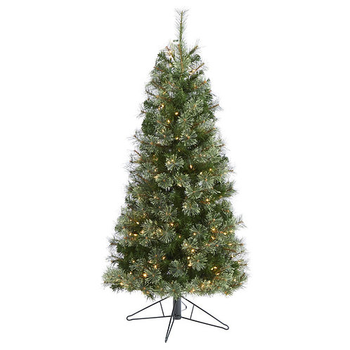 5' Cashmere Slim Artificial Christmas Tree with 250 Warm White Lights