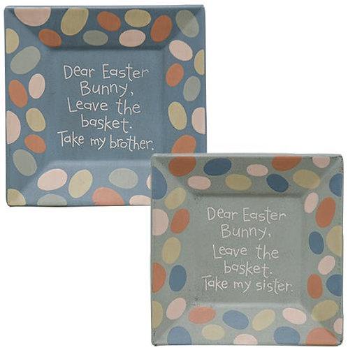 *Dear Easter Bunny Plate - 2 asst.